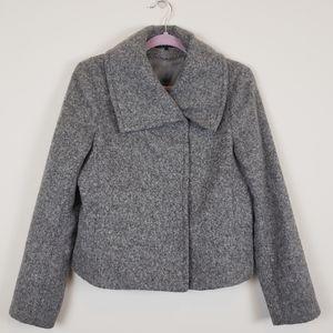 Theory gray alpaca blend wool coat lined Sz large